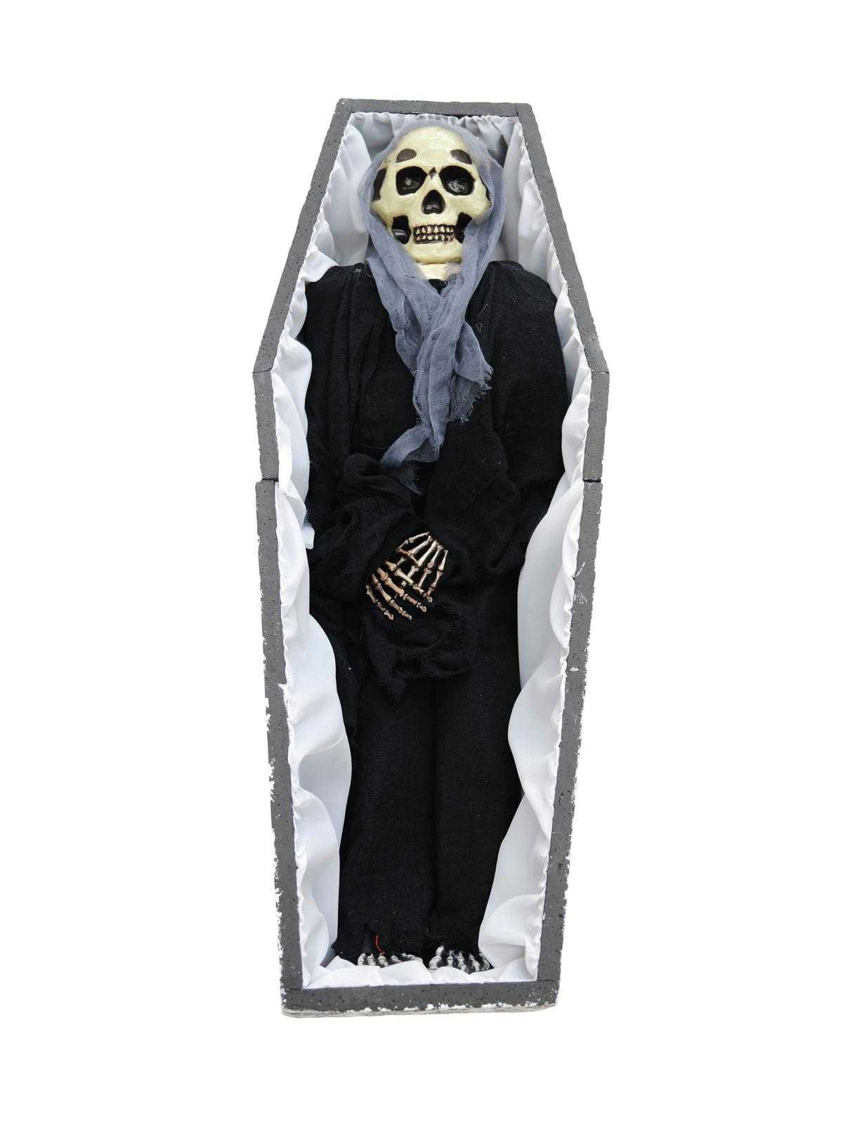 Halloween skelet i kiste