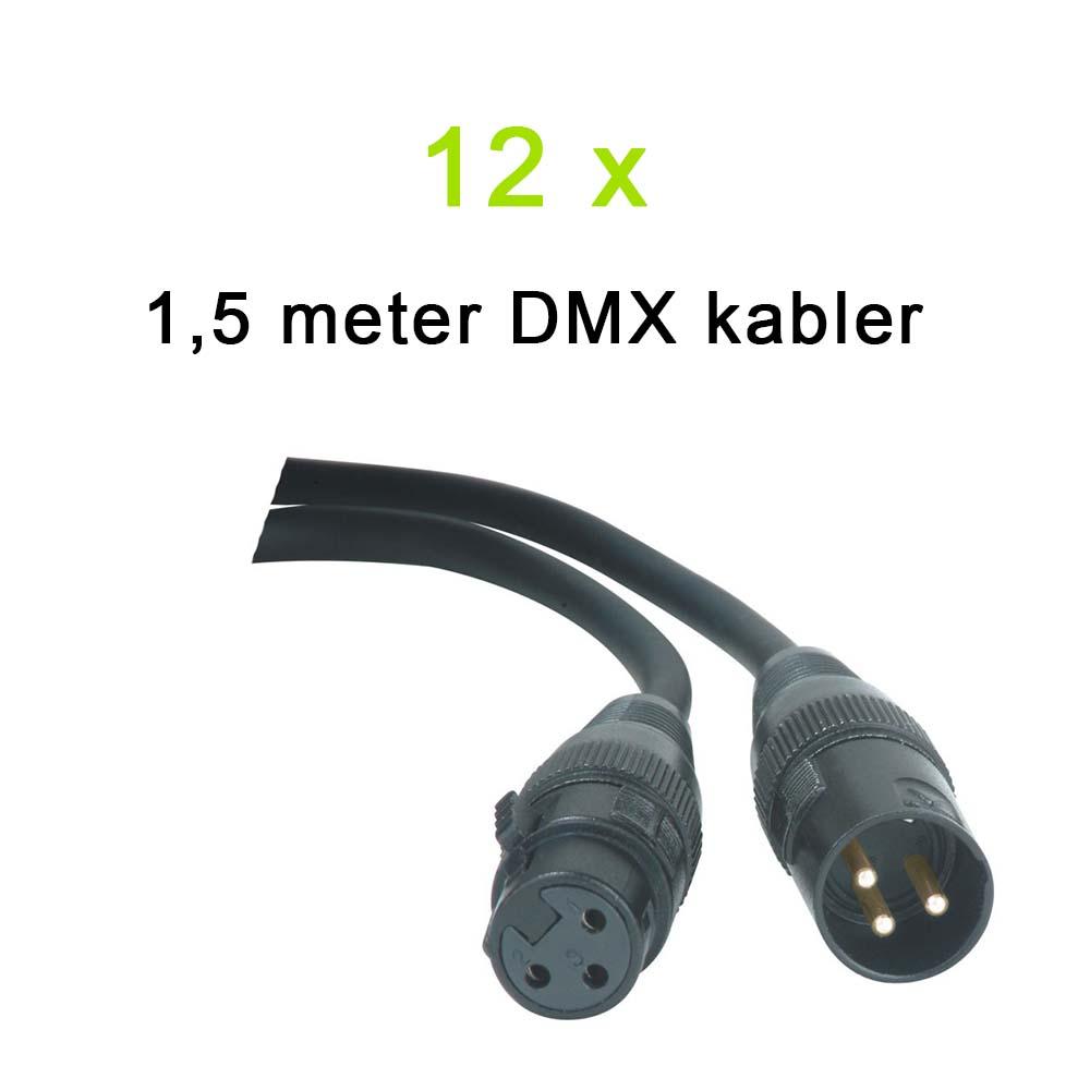 Billede af DMX Kabel Pakke, 12 x 1,5 meter