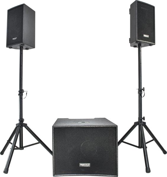 BST Aktivt PA system 1600 watt