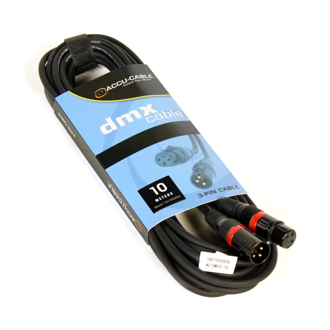 Billede af DMX kabel farvekode rød 10 mtr.