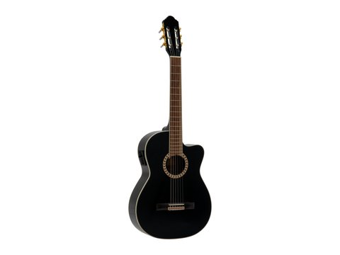 DiMavery CN-600E Klassisk Guitar, Sort