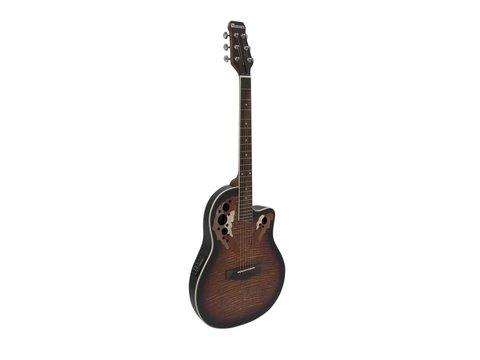 DiMavery OV-500 Roundback Guitar, Sunburst