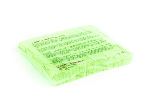 TCM fx Slowfall Confetti rectangular 55x18mm, neon-green, uv active, 1kg