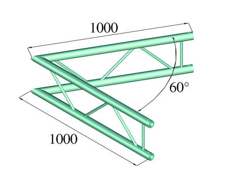 Image of   Alutruss BILOCK BQ2-PAC20V 2-way corner 60°