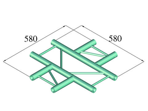 Image of   Alutruss BILOCK BQ2-PAC41H 4-way cross piece