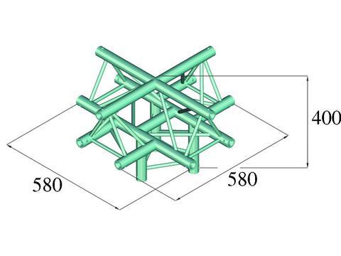 Image of   Alutruss DECOLOCK DQ3-PAC52 5-way corner /\