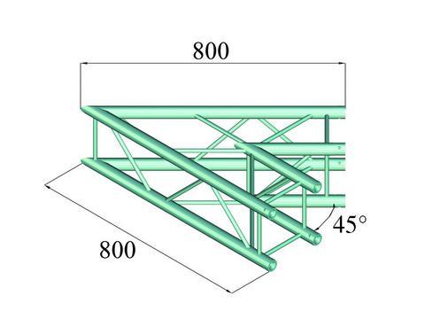 Alutruss DECOLOCK DQ4-PAC19 2-way corner 45°