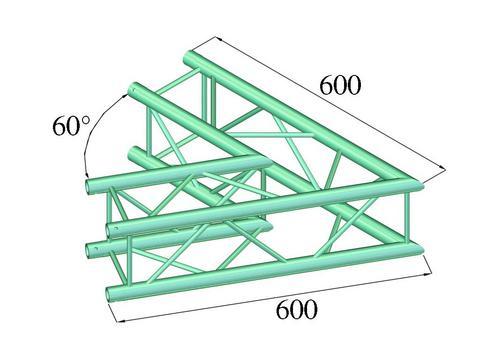Alutruss DECOLOCK DQ4-PAC20 2-way corner 60°