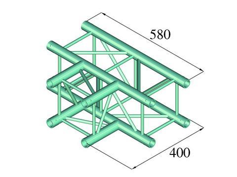 Alutruss DECOLOCK DQ4-PAT35 3-way T-piece 90°