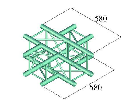 Alutruss DECOLOCK DQ4-PAC41 4-way cross piece