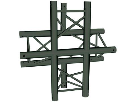 Image of   Alutruss TRILOCK S-PAC-41 SU 4-way cross black