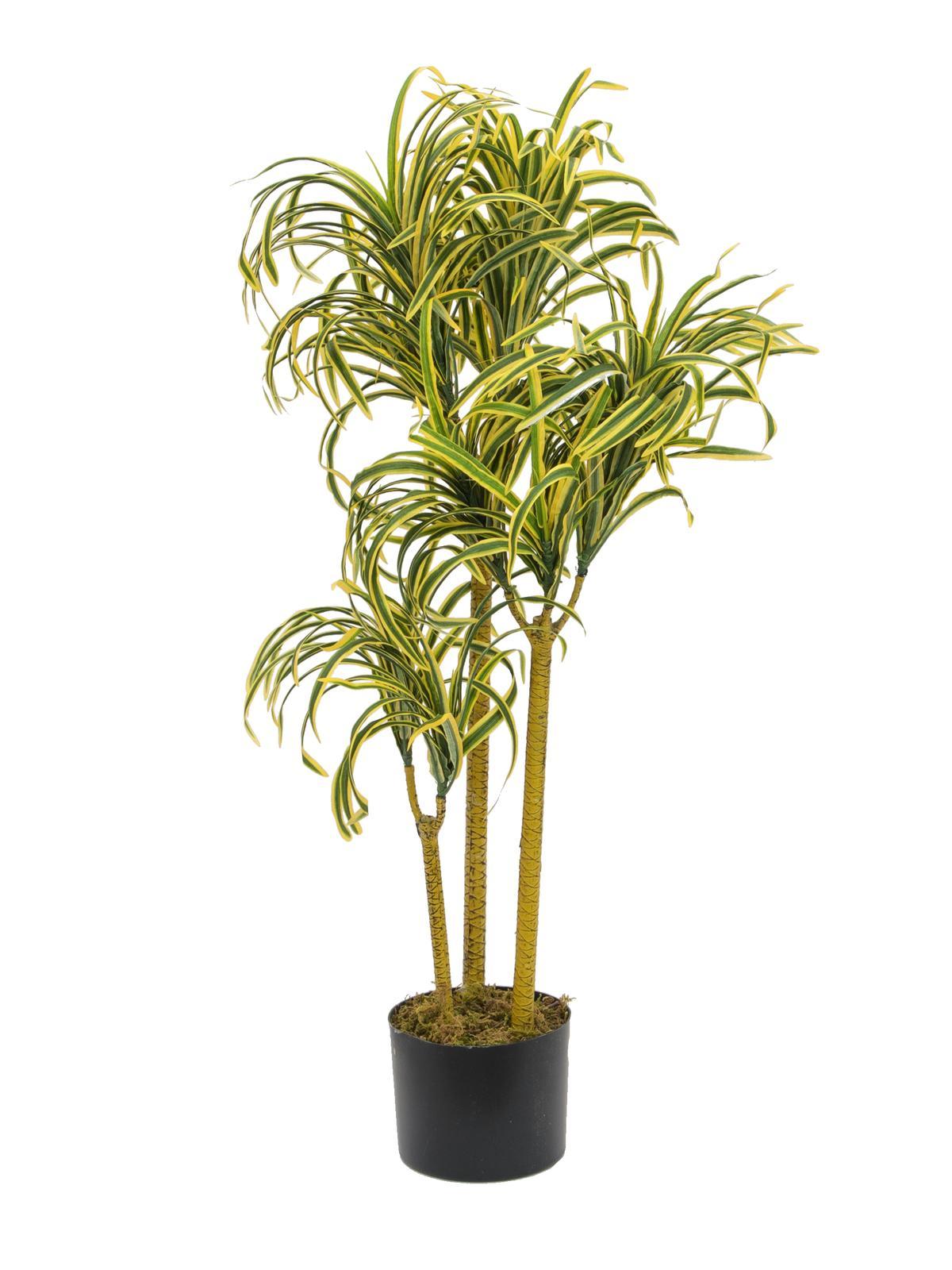 Image of   Kunstig Yucca palme med naturlig stamme 90cm