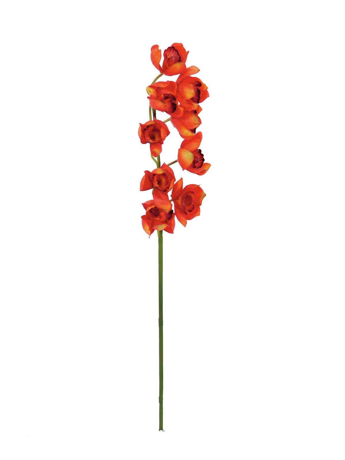 Kunstig  Cymbidiumspray, red, 90cm