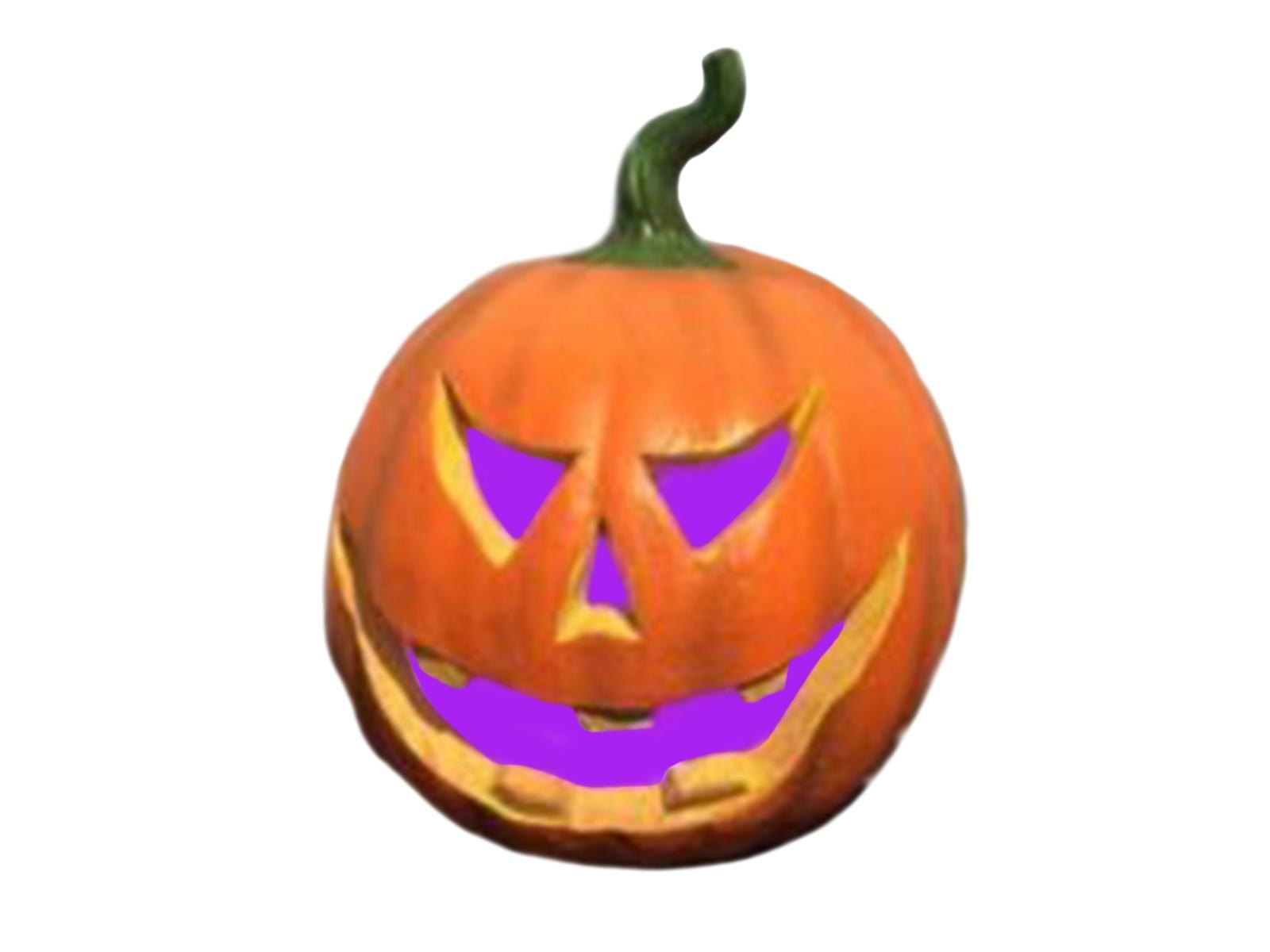 Image of   Halloween græskar med farveskift