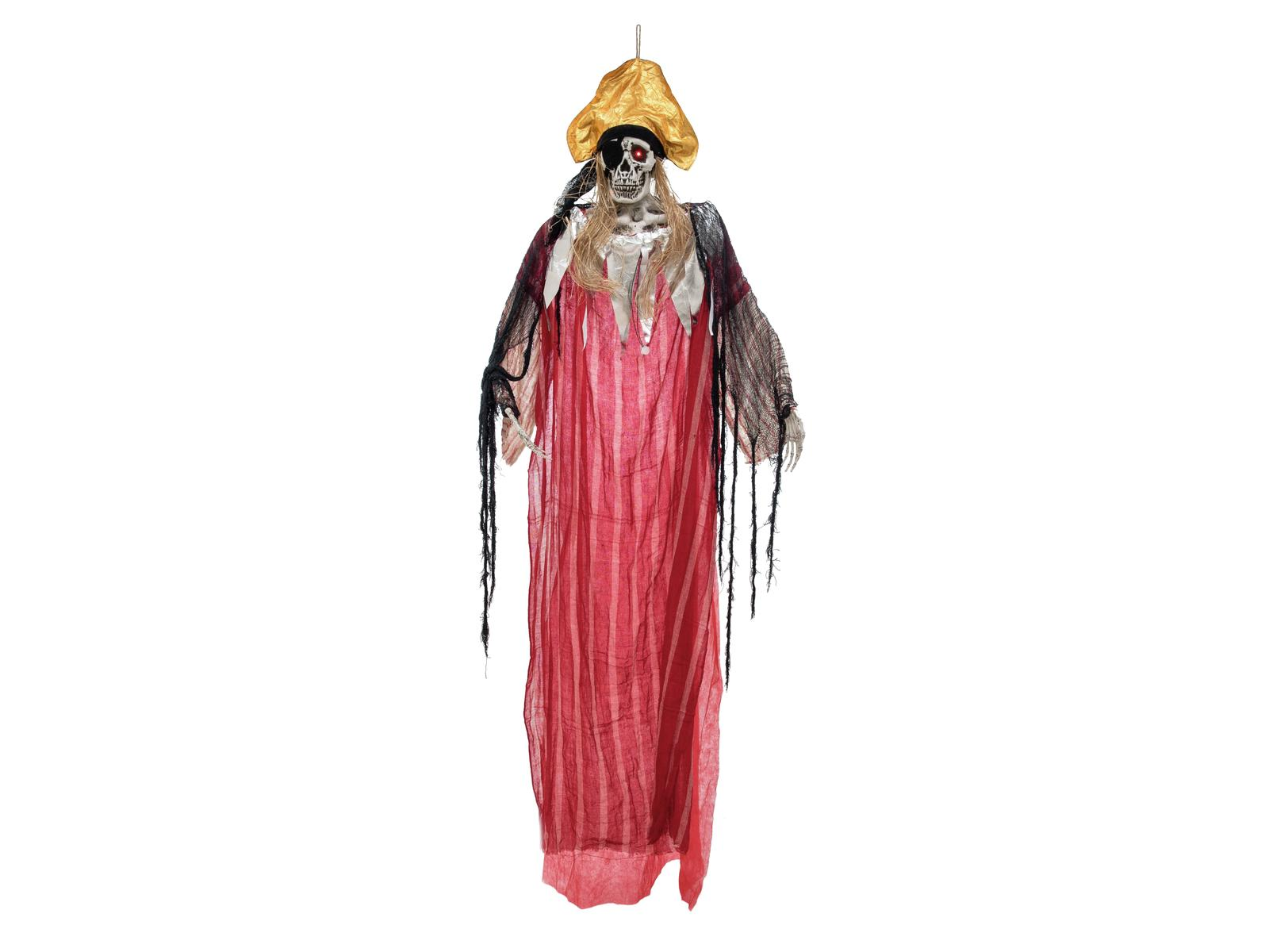 Image of   Halloween animeret skelet pirat, 170 cm