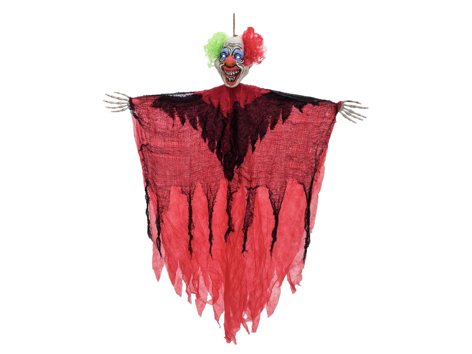 Image of   Halloween grinende klovn, 120 cm