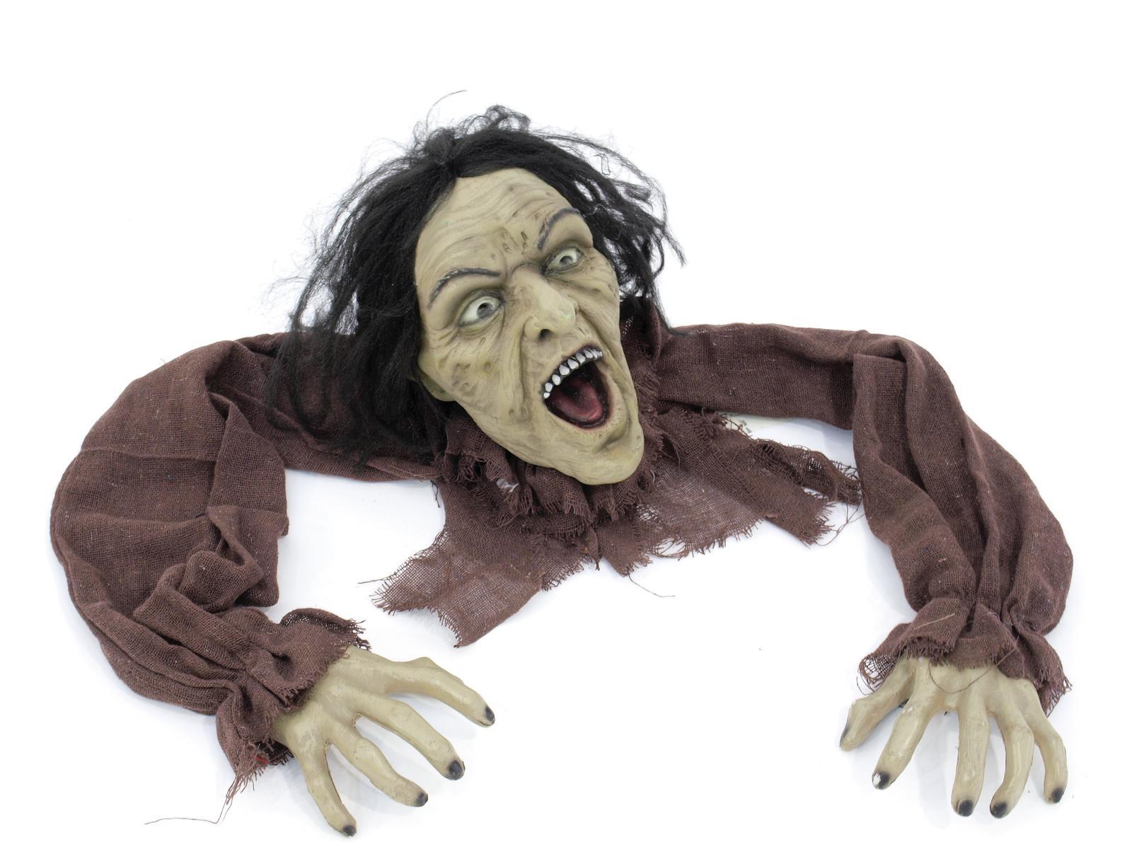 Image of   Halloween kravlende zombi