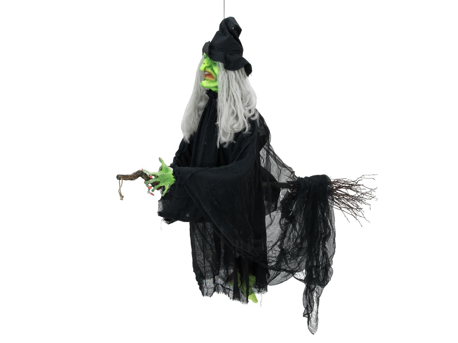 Image of   Halooween animeret flyvende heks