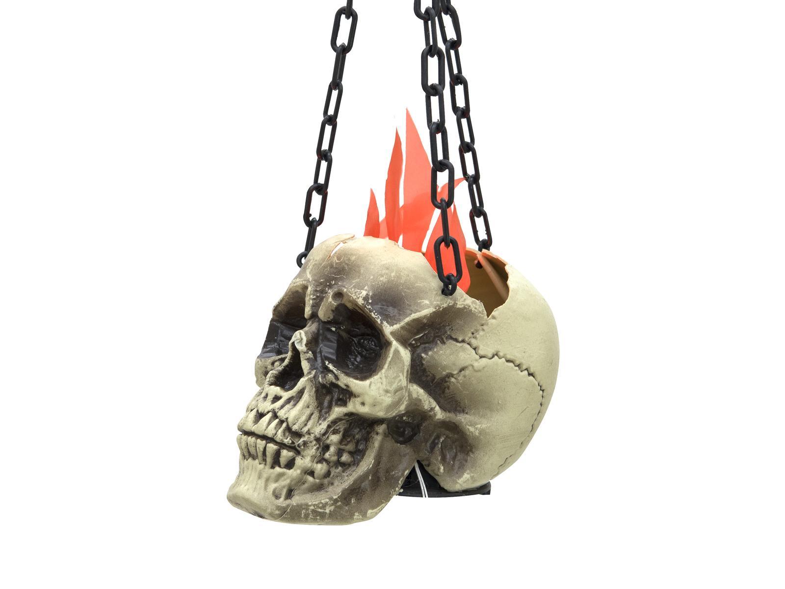 Image of   Halloween brændende kranie