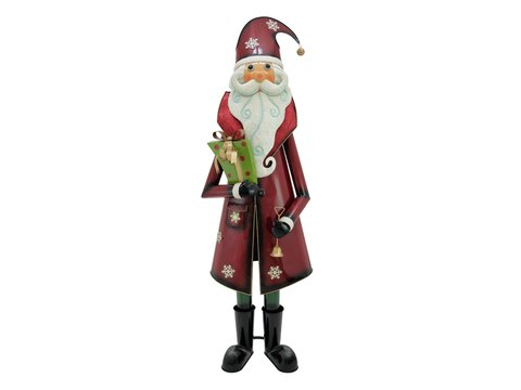 Santa Claus, Metal, 195cm, red