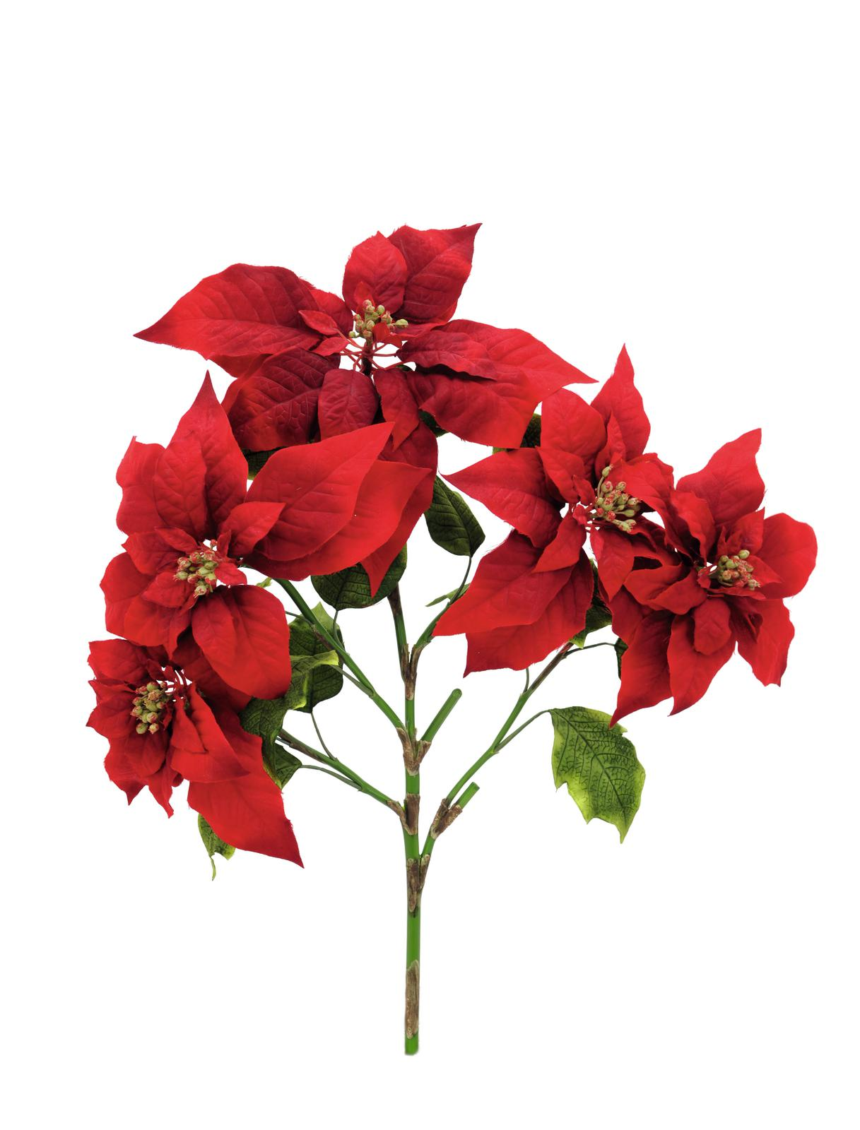 Kunstig  Poinsettia bush, red, 60cm
