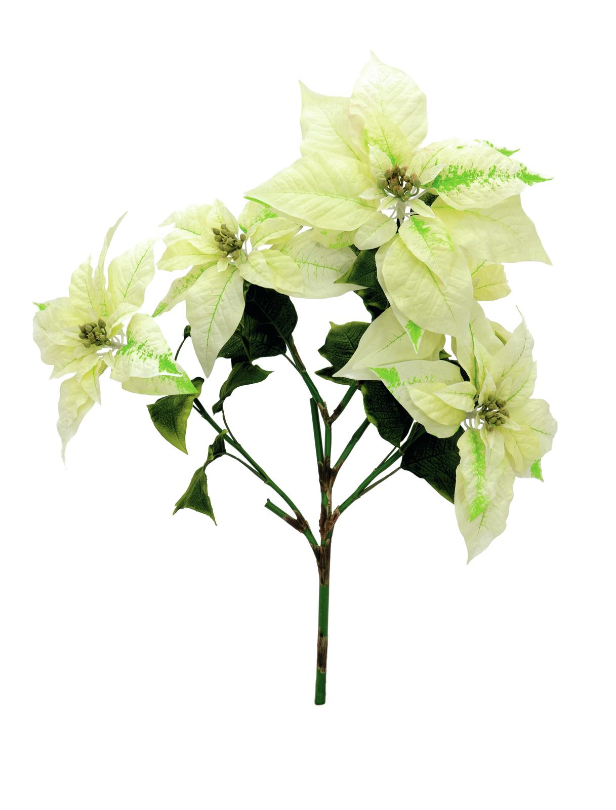 Kunstig  Poinsettia bush, cream, 60cm