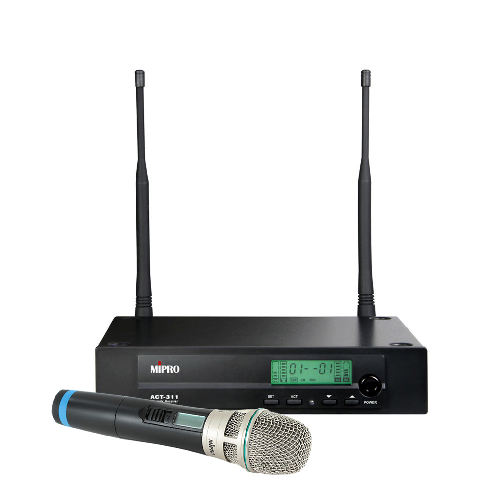 Mipro trådløs mikrofonsæt ACT311 med håndholdt mikrofon