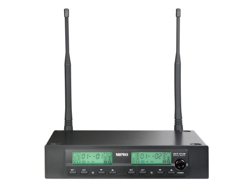 Image of   Mipro trådløs mikrofon modtager ACT312 2 kanals - 823-831MHz