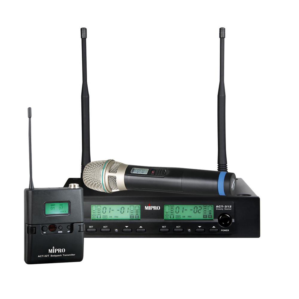 Mipro trådløs mikrofonsæt ACT312 m/ håndholdt og lommesender