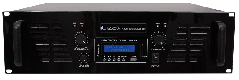 Ibiza Poweramp m. Bluetooth 2x800w
