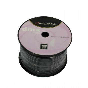 Accu-Cable 100 meter DMX Kabel På Rulle 5 Sort
