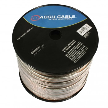 Image of   Accu-Cable 100 meter Højtaler kabel 2x4mm²/Rund Transparent