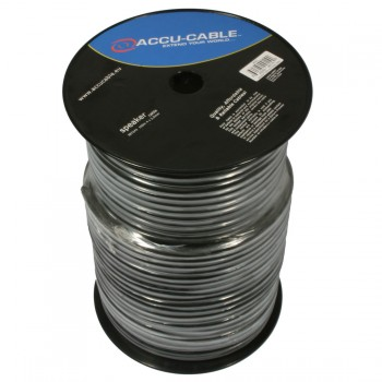 Accu-Cable 100 meter Højtaler kabel 4x2,5mm²/Rund Sort