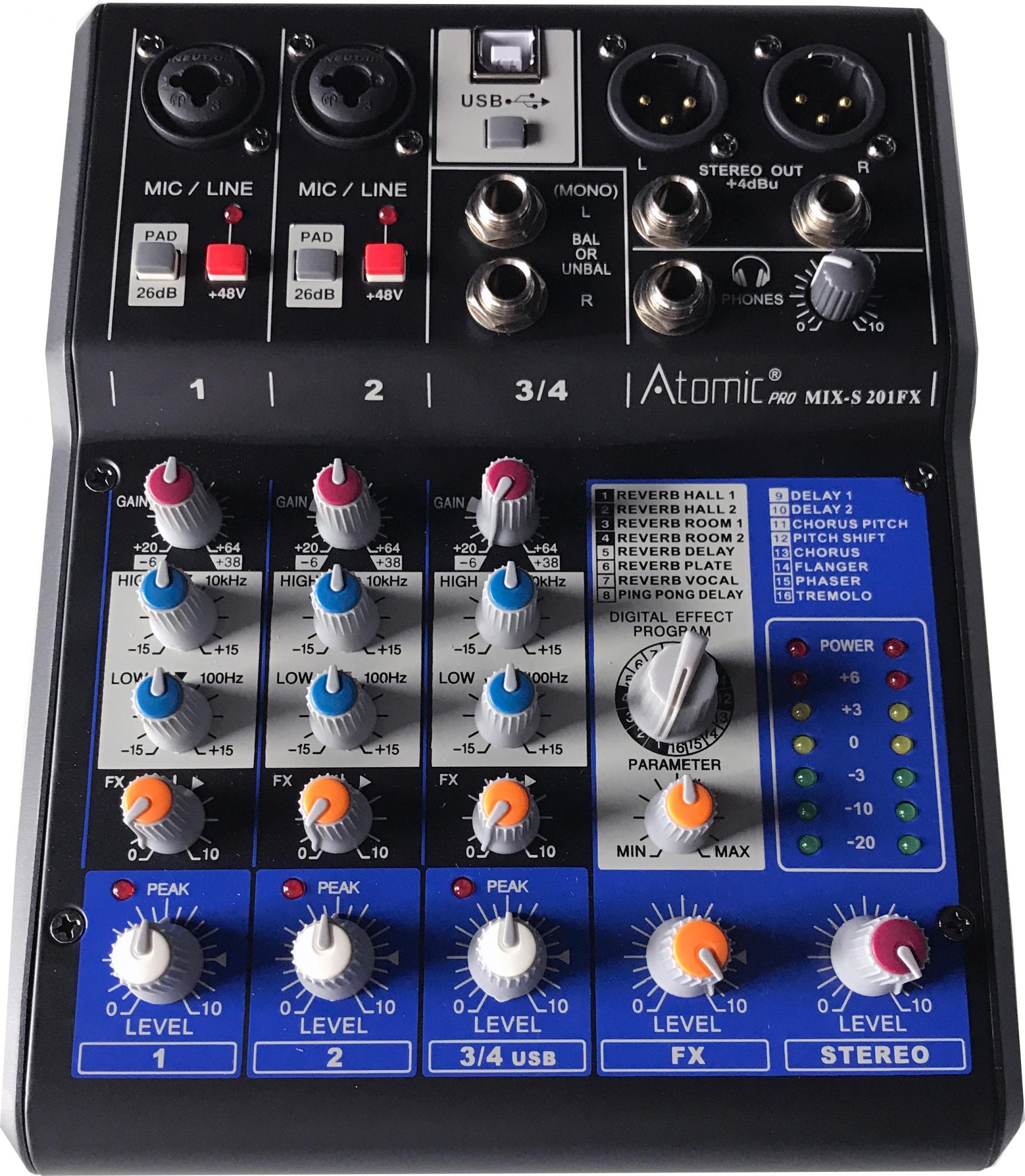 Image of   Atomic Mixer 201 (4 kanaler)
