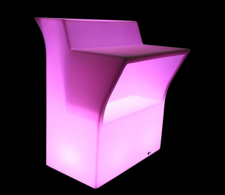 Bardisk med LED belysning