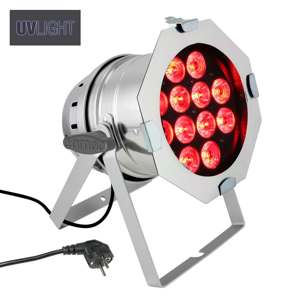 Cameo PAR 64 CAN 12x10W RGBAW+UV Sølv