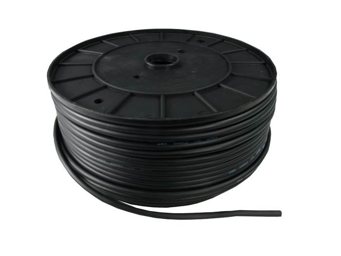 100 meter DMX Kabel På Rulle Sort