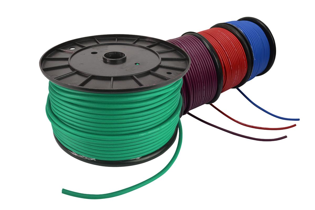 Cobra mikrofonkabel på rulle (50 Meter). Grøn