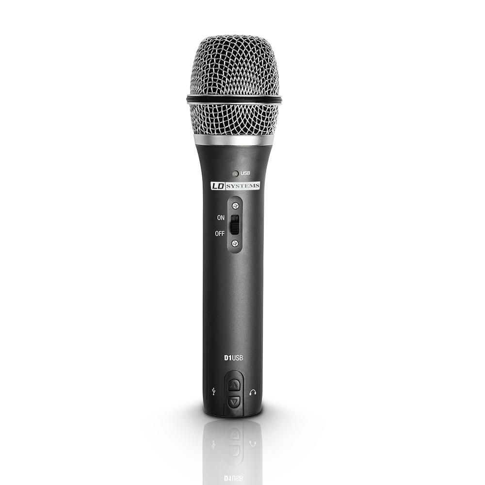 LD Systems D 1 USB USB / XLR Vokal Mikrofon med hovedtelefon udgang