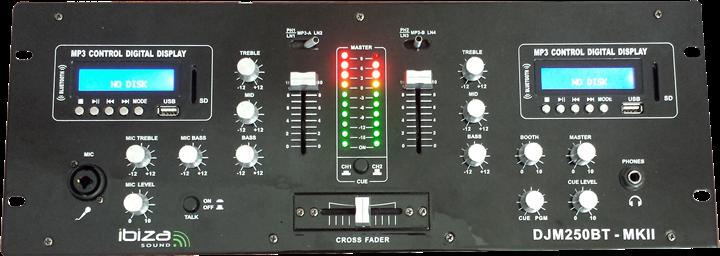 Ibiza Multi Mixer DJM250BT-MKII