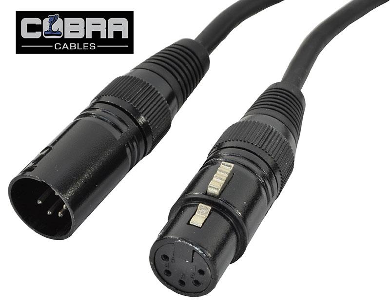 Billede af DMX Kabel XLR Han 5 Pol til XLR Hun 5 Pol 15 meter