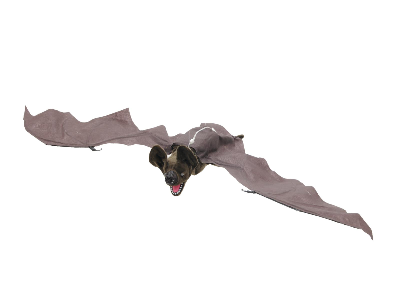 Image of   Halloween animeret flyvende flagermus, 90 cm