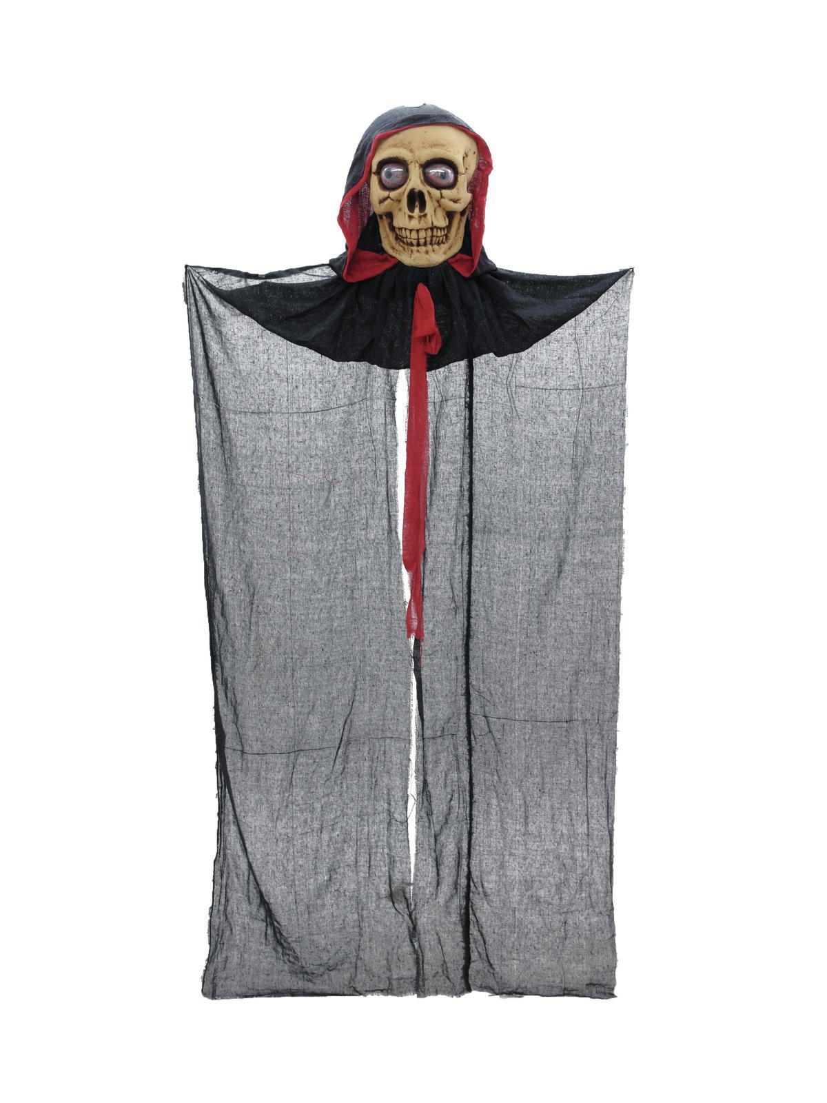 Image of   Halloween hængende kranie med kappe