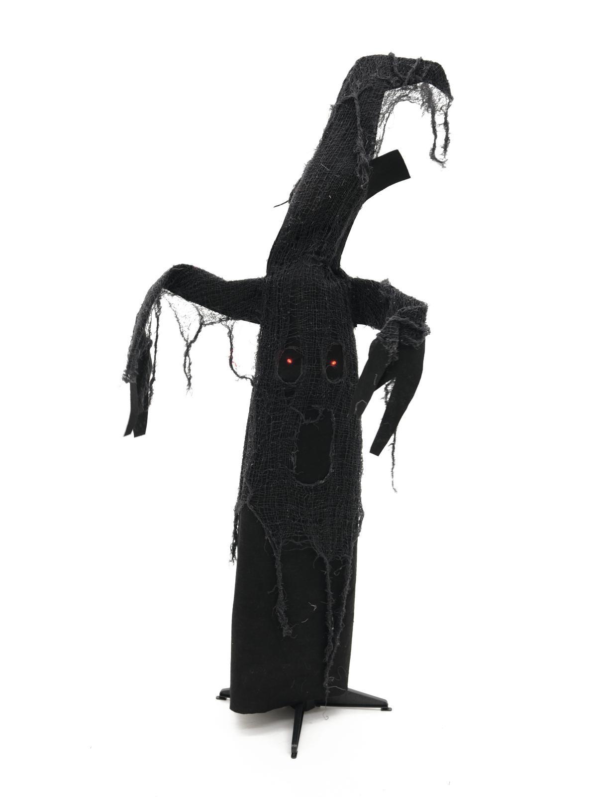 Image of   Halloween animeret spøgelsestræ, sort, 110 cm
