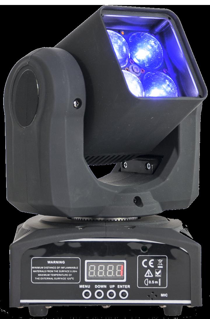 Image of   Ibiza RGBW LED moving head 4 x 10 watt