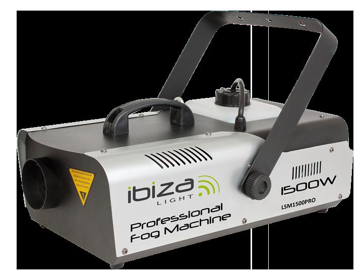 Ibiza røgmaskine, 1500 watt + DMX