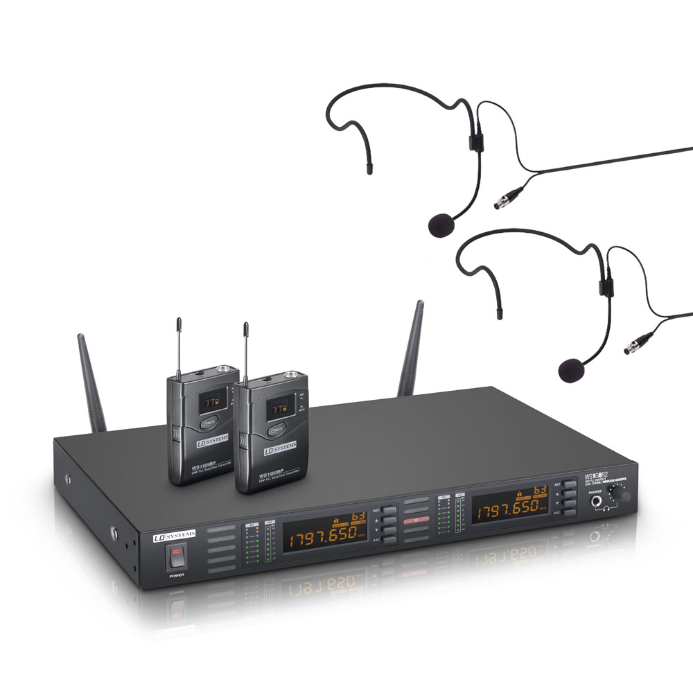 LD Systems WS 1G8 BPH2 Dobbelt Trådløs Headset mikrofon sæt