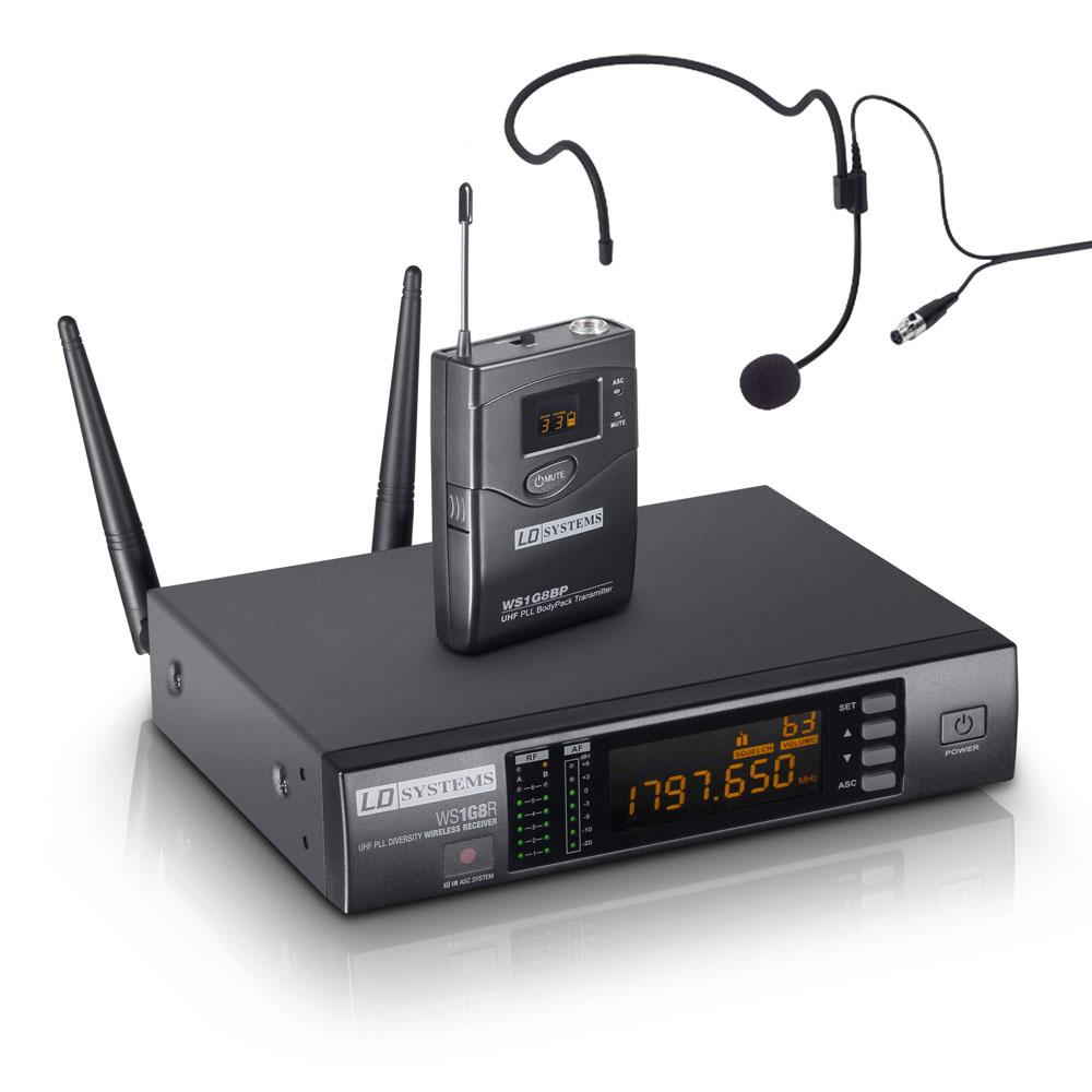 LD Systems WS 1G8 BPH Trådløs Headset mikrofon sæt