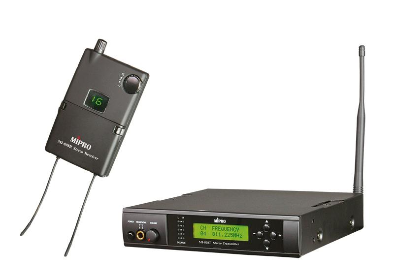 Mipro In-Ear monitor sæt, komplet m/sender & modtager 6C