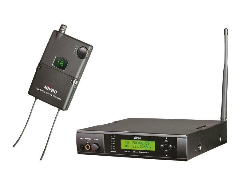 Mipro In-Ear monitor sæt, komplet m/sender & modtager 8U